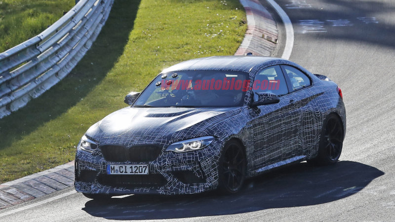 2020 BMW M2 CS spied testing at the Nurburgring