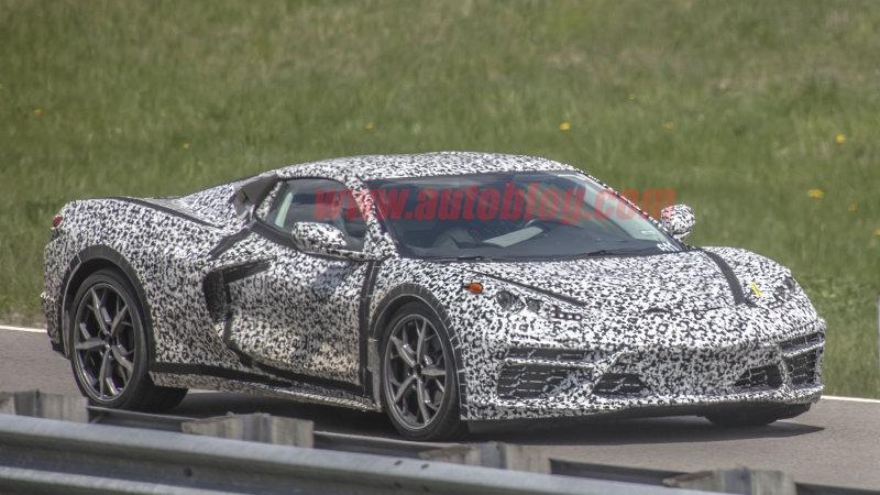 2020 Chevy Corvette spy photos show a second aero configuration