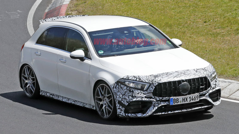 2020 Mercedes-AMG A 45 spied with low-key aero