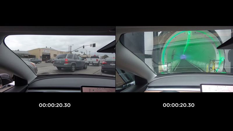 Boring Company video shows Tesla Model 3 at 127 mph in tunnel
