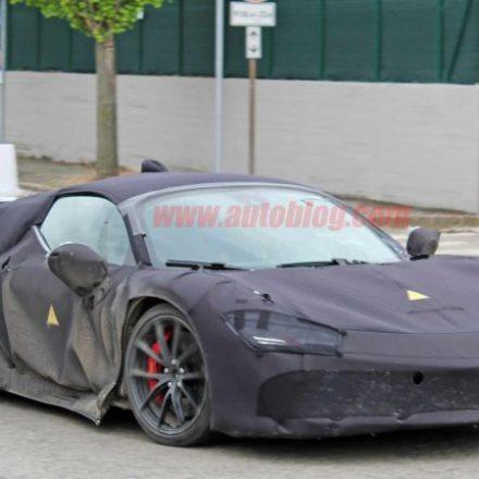 Ferrari mid-engine hybrid supercar captured in spy photos