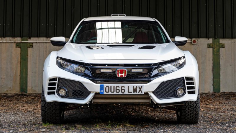 Honda Civic Type R rally car looks like a blast offroad