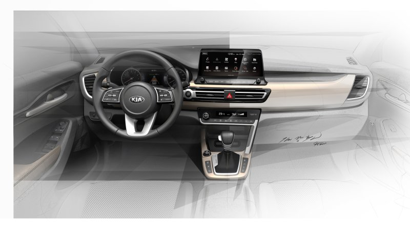 Kia releases interior drawings of its tiny new global crossover