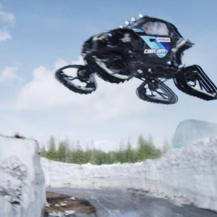 Watch Ken Block's tracked side-by-side at a ski resort